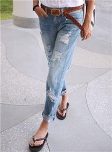 Splendid Korean Long Slim Skinny Jeans: tidestore.com