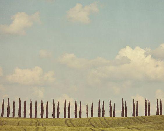 Tuscany Photograph Italy Landscape by EyePoetryPhotography on Etsy, $30.00