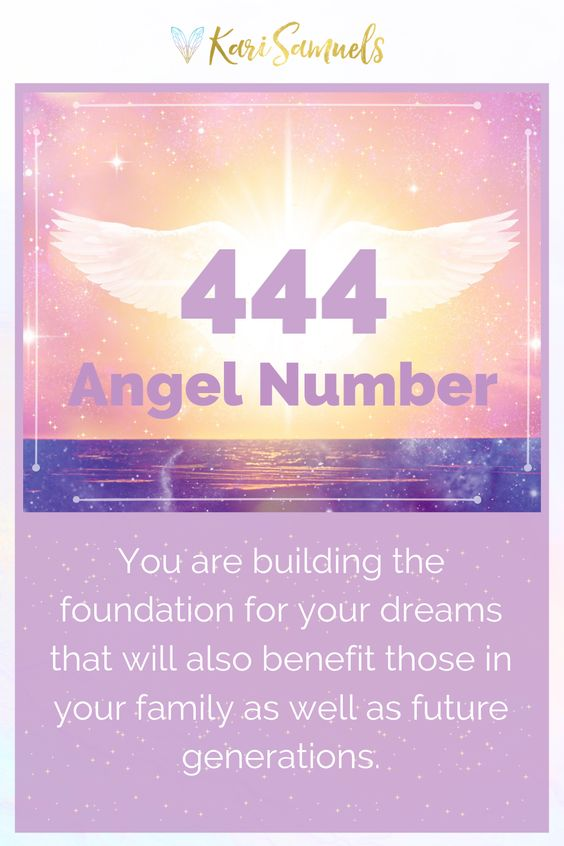 Angel Number 444: A message of love | Do you often see the number 444? This is not a coincidence! Repeated number patterns are how your angels and guides communicate with you; they're trying to get your attention! Click to learn the meaning of this message your angels & spirit guides are sending you with the repeated numbers 444, plus why a number repeated three times is extra special! | Kari Samuels #karisamuels #444 #angels #spiritguides #angelnumbers #numerology