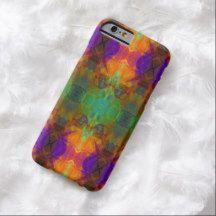 Colorful Abstract Blue Green Purple Orange Mosaic Kaleidoscope Pattern iPhone 6 Case
