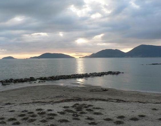 Il tramonto  a Lerici: