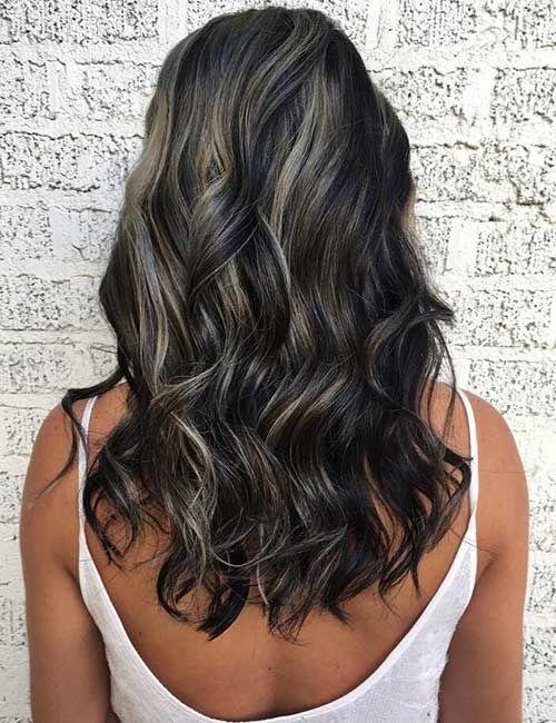 Metallic Silver Highlights Brown Hair With Silver Highlights Highlights For Dark Brown Hair Brown Blonde Hair