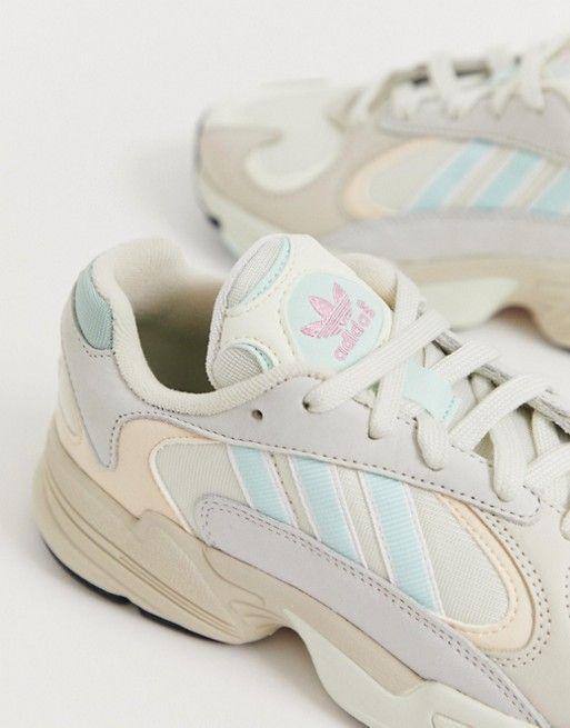 adidas Originals Yung-1 sneakers in off