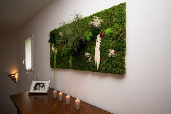 mur v g tal int rieur naturel fleurs pinterest interieur. Black Bedroom Furniture Sets. Home Design Ideas
