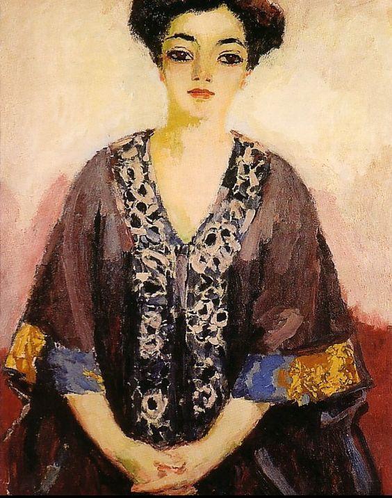 Kees Van Dongen (Dutch-French, 1877-1968) : Adèle Besson, 1908. Musée Albert Andre. Hôtel de Ville, Bagnols- sur-Cèze, France.