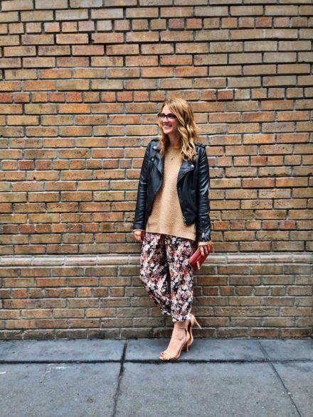 Jacket: Bar III   Sweater: F21   Pants: F21   Shoes: Zara   Clutch: Old