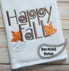 FREE! Happy Fall - 4 Sizes! | FREE | Machine Embroidery Designs | SWAKembroidery.com