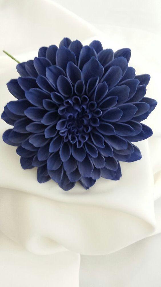 DAHLIA Wedding Cake Topper Sugar Flower HIGH QUALITY Large Gum Paste