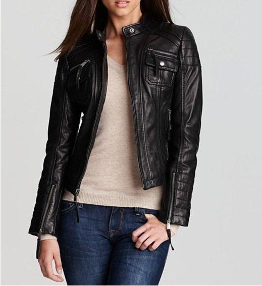 Leather Jacket Women Biker Jacket Black Leather by SkinWears Store ...