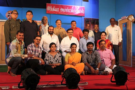 """Director Cheran, Actor Nepolean At 71st Stage Show of Stage Gem Y.Gee.Mahendra's """"3 Ji"""""""