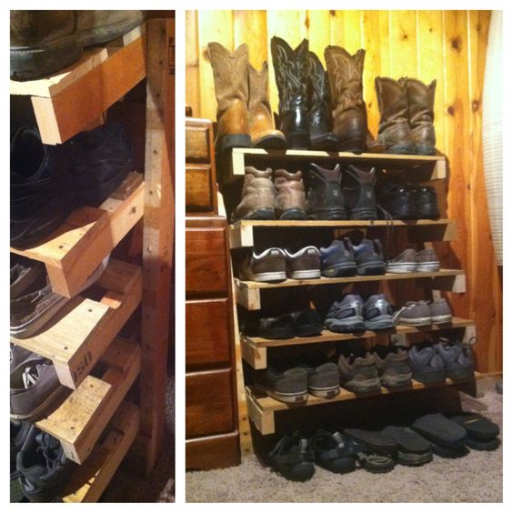 Pinterest the world s catalog of ideas for Shoe rack made from pallets