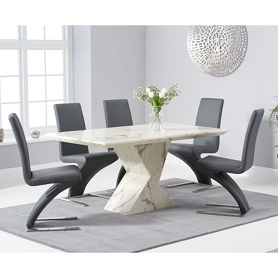 Senna Marble Dining Table In White And High Gloss With 6 Chairs Furniture In Fashion In 2020 Dining Table Marble Marble Dinning Table Marble Tables Design