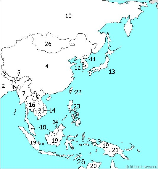 Outline Map Of Southeast Asia East Asia Outline Map