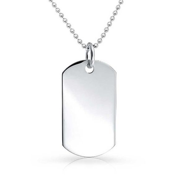 Bling Jewelry Bling Jewelry 925 Sterling Silver Classic Dog Tag... ($46) ❤…