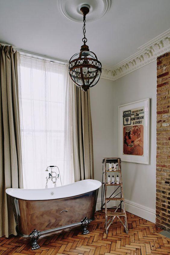 bathtub, wood floor   artist residence: