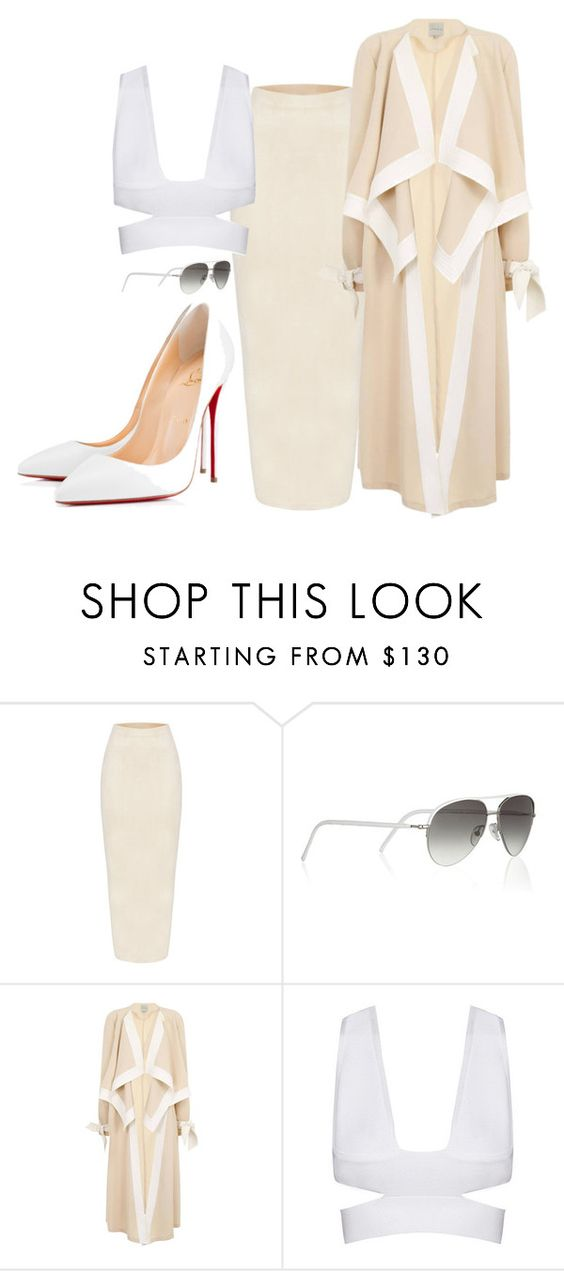"""Verona Queen"" by veronaqueen ❤ liked on Polyvore featuring Cutler and Gross, Topshop and Christian Louboutin"