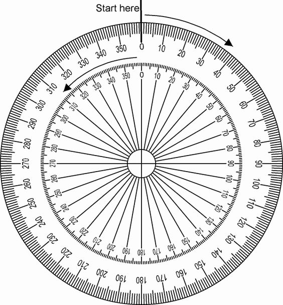 Degree Wheel Printable Matematika Buku Catatan Matematika Buku