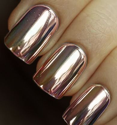 rose gold nails rose gold and gold nails on pinterest