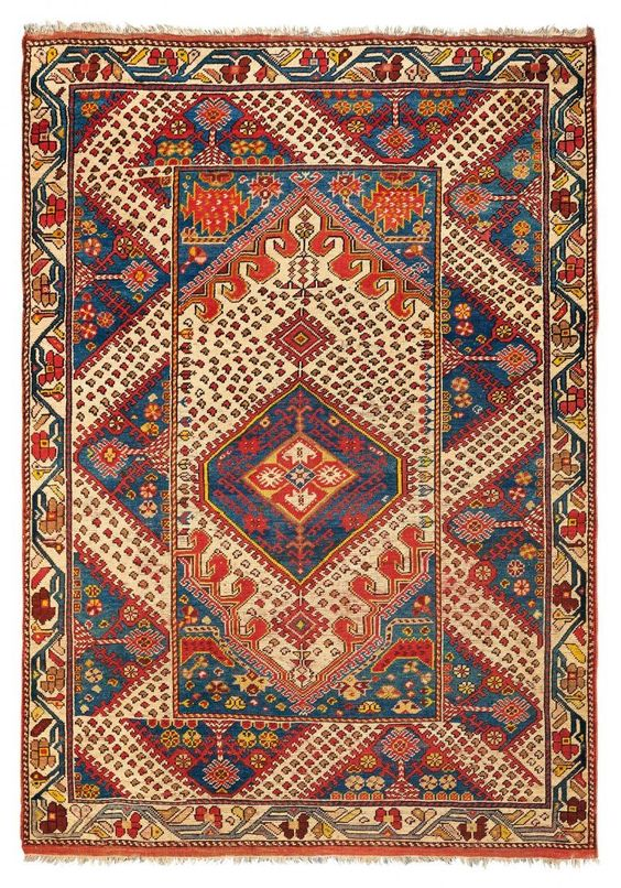 Lot:A Kiz Ghiordes rug late 19th early 20th century cm, Lot Number:48, Starting Bid: €1200, Auctioneer:Cambi Casa D'Aste, Auction:A Kiz Ghiordes rug late 19th early 20th century cm, Date:12:00 AM PT - Dec 1st, 2015