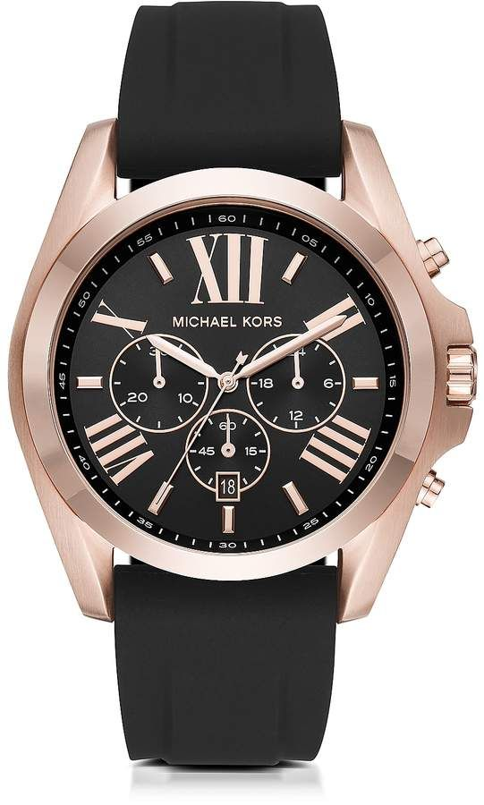 Michael Kors Bradshaw Rose Goldtone Stainless Steel Men S Chronograph Watch With Images Michael Kors Wrist Watch Michael Kors Bradshaw Watch Michael Kors Bradshaw