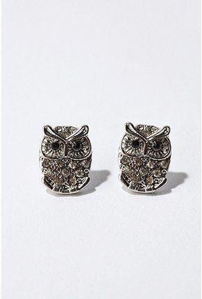 cute little owl stud earrings from Urban! 14$