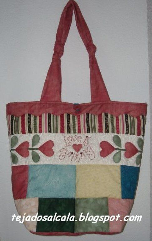Bolsos hechos en patchwork: Work, Of Work, Bag Of, Yourself, De Patchwork, Tote Bags, Bags Totes, My Jobs
