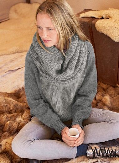 modele tricot echarpe resille
