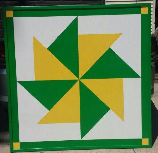 John Deere Barn Quilt 4x4 My Diy Board Pinterest