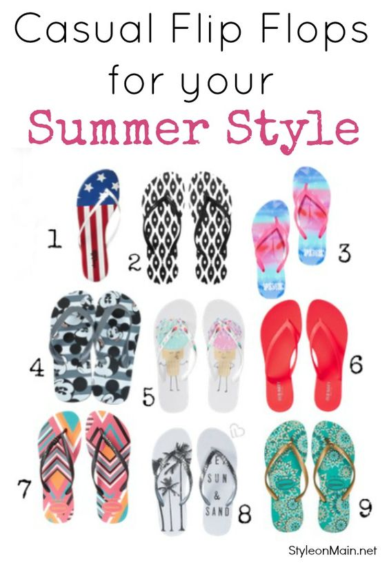 Flip Flops for Your Summer Style   Casual and Dressy - Style on MainStyle on…