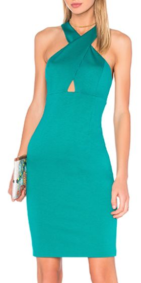 tie front midi dress in teal