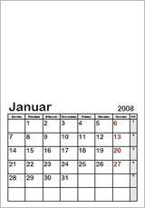 Monatskalender Vorlage 2015 blanko zum Selbergestalten