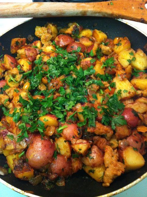 Tuscan Style Home Fries! This is my favorite potato dish EVER!