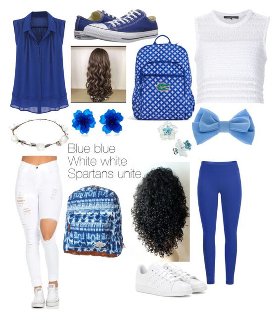"""""""School spirit"""" by bloodbeam ❤ liked on Polyvore featuring Black Diamond, adidas, Thakoon, Converse, claire's, Lipsy, Billabong and Vera Bradley"""