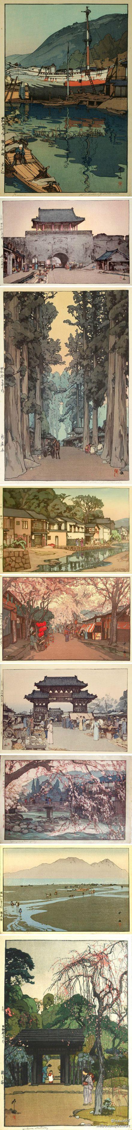吉田博Hiroshi Yoshida版画