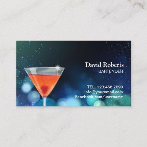 Bartender Nightclub Cocktail Bar Modern Business Card Zazzle Com Modern Business Cards Bartender Cocktail Bar