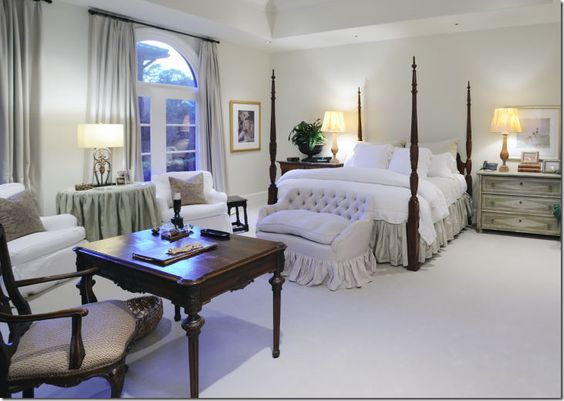 designer pam pierce white bedroom