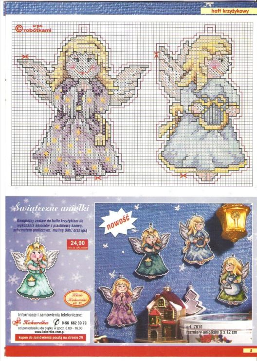 Angels, plastic canvas , charts, page 2/2