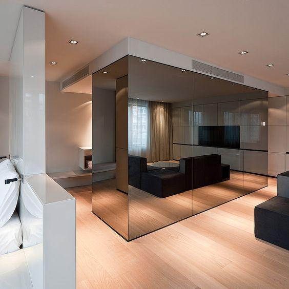 Hotel sana elegancia y sobriedad en el nuevo trabajo de for Acabados minimalistas interiores