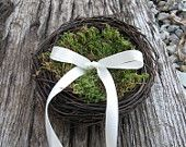 A ring bearers ring nest. A different take on the pillow.