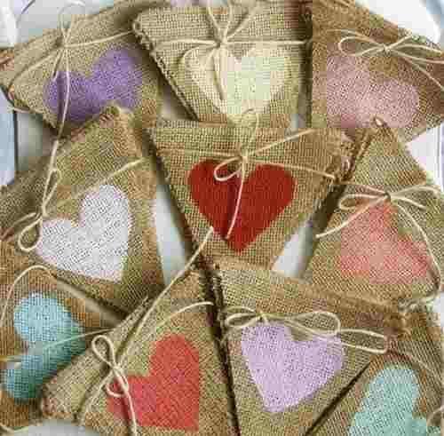 Banderines guirnaldas de tela arpillera bodas cumples - Decoracion de guirnaldas ...