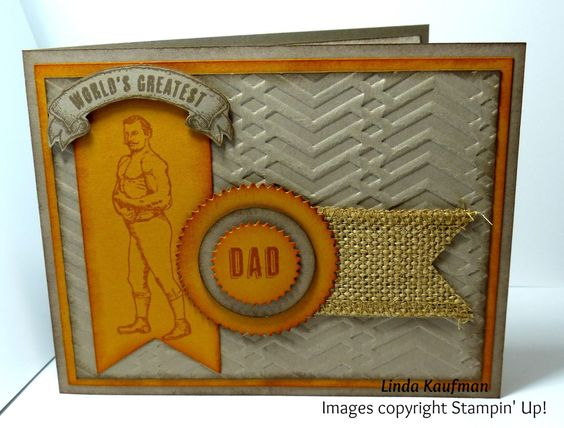 Linda K's Stampin' Page: Stampin' Up!'s Guy Greetings Father's Day Card