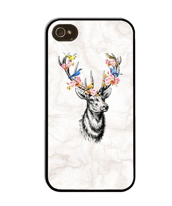 Deer on marble phone case