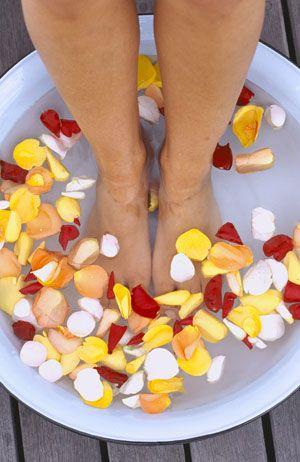 Entzündungshemmende Fußbäder Kamille