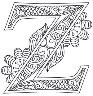 Letter Perfect Z Design UTH7617 From