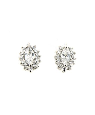 Another great find on #zulily! Sterling Silver Sparkle Marquise Cluster Stud Earrings #zulilyfinds