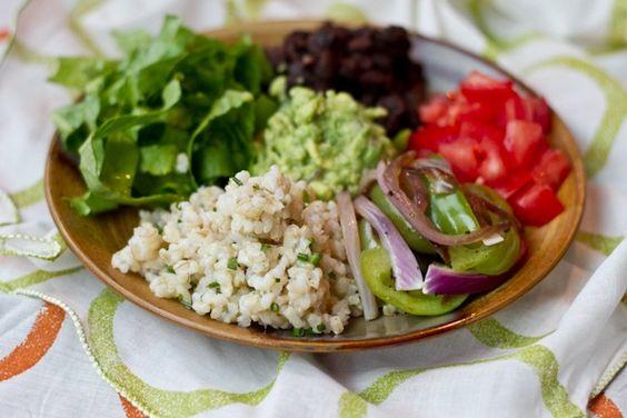 simplified chipotle veggie burrito bowl