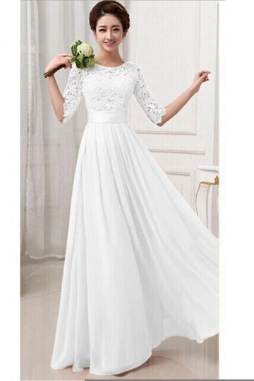 Maxi dress white omen