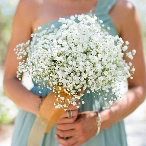 Pure Babys Breath Bridesmaid Bouquet Buy Online In San Jose Flower Shop Bridesmaid Bouquet Babys Breath Bouquet Bridesmaids Wedding
