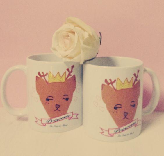 Mug, tasse, cutethings, reinder, renne, princesse