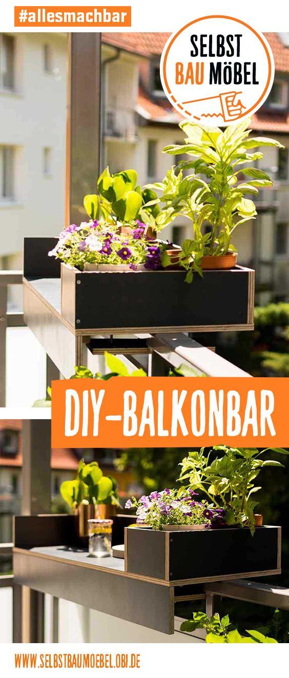 Balkonbar Barbara Selber Bauen Alle Mobel Create By Obi Balkon Bar Balkon Pflanzenregale